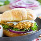 With the perfect amount of spice and a ton of flavor, this Spicy Chicken Sandwich with Cilantro-Lime Mayo is so good that the family asks for it over and over again!