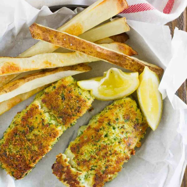 Eating lighter doesn't mean you have to give up your favorites, and this Lemon Herb Fish with Crispy Oven Fries proves that! A healthier take on fish and chips, this flavorful fish recipe will leave you satisfied and feeling good.
