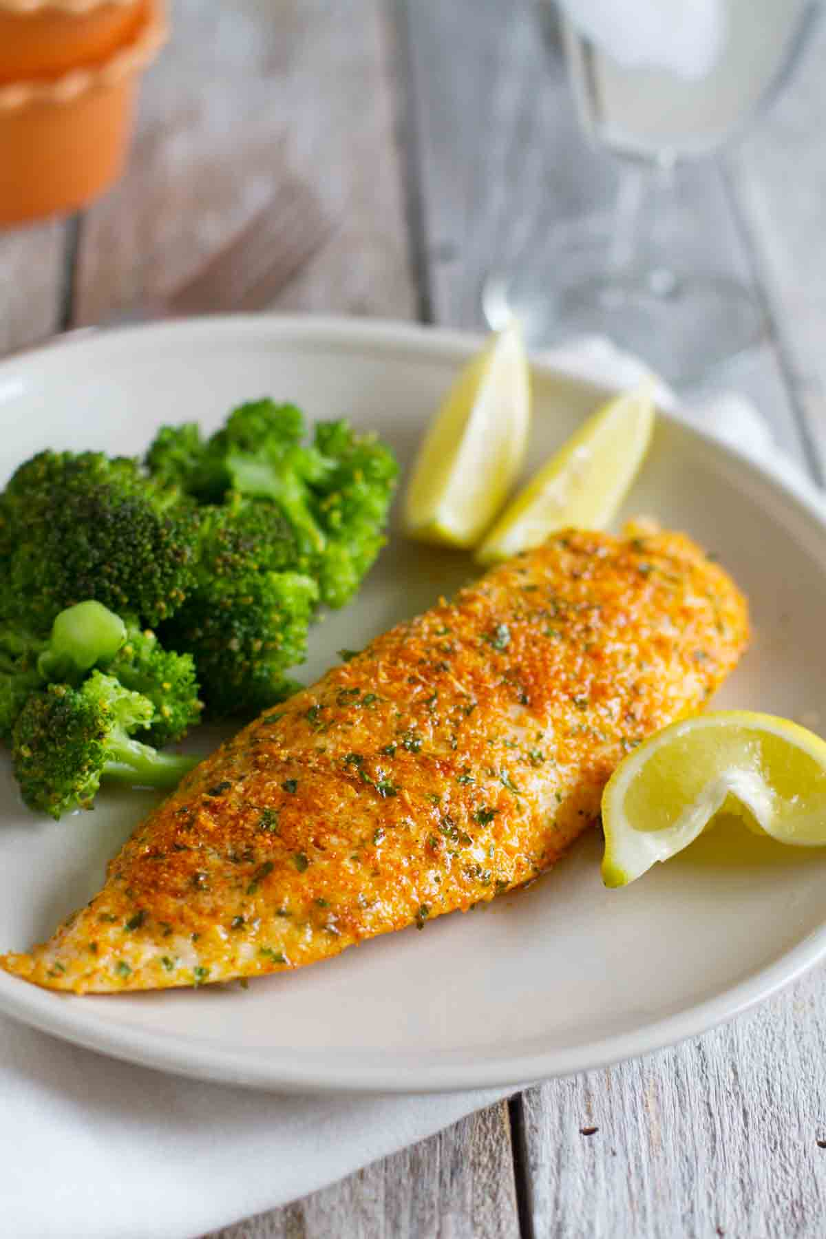 Parmesan Crusted Tilapia Taste And Tell
