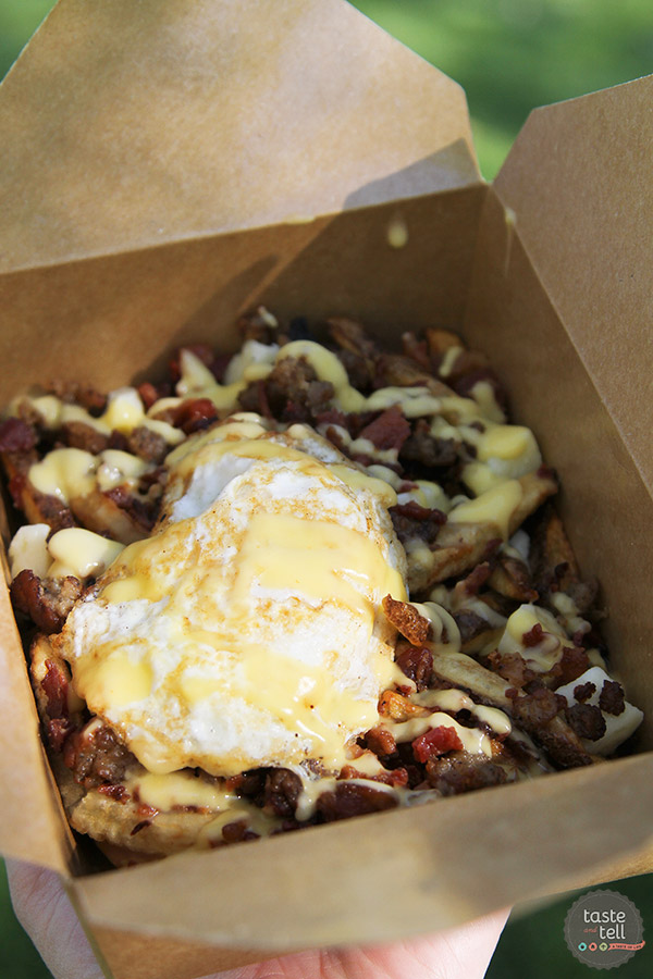 Farmer's Daughter Poutine from Porky's Poutine - a Utah Food Truck.