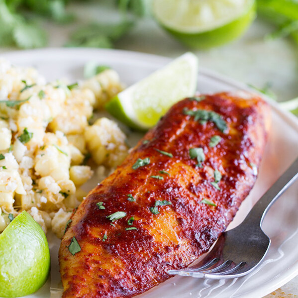 Super easy, healthy and fast - this Taco Grilled Fish Recipe only has 4 ingredients and is the perfect meal for 2. It has great taco flavor and is nice and smoky from being grilled on a cedar plank.