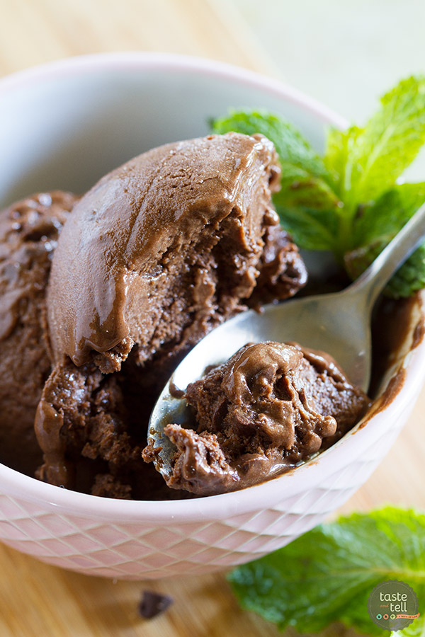 Need something sweet to curb that chocolate craving? This Chocolate Mint Ice Cream is a perfect substitution when you need sweet but not the calories. Made with frozen bananas, it's a treat you can feel good about eating!