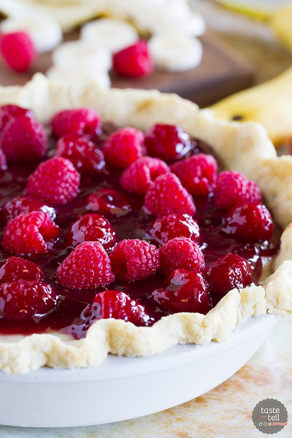 Raspberry Banana Pie Recipe