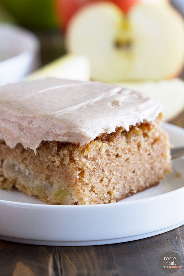 The perfect, no-fuss fall dessert, this Apple Cinnamon Sheet Cake is moist and full of apple flavor with the perfect amount of cinnamon.
