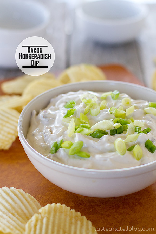 Rich and creamy, this Bacon Horseradish Dip is so much better than the store bought dip!