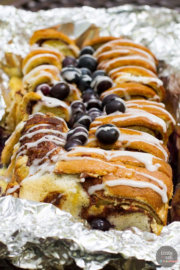 Campfire Cinnamon Blueberry Bread Recipe