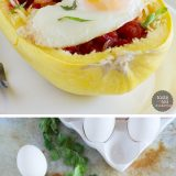 Inspired by a popular Mexican breakfast, this Huevos Rancheros Inspired Spaghetti Squash has all of the flavor of the popular Mexican meal with less carbs!
