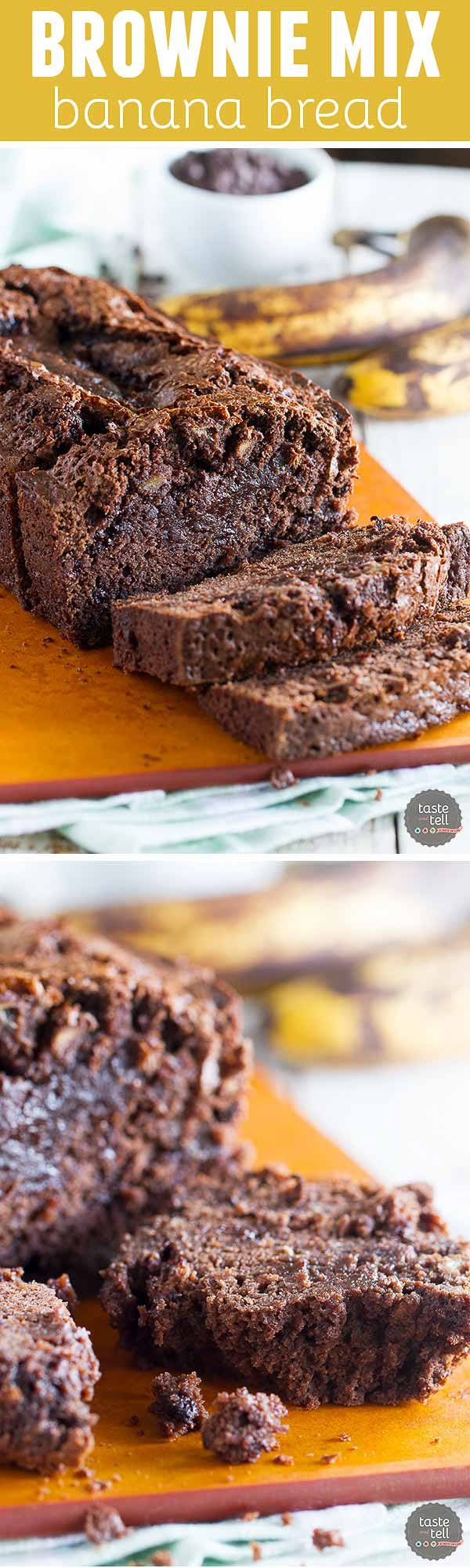 Brownie Mix Banana Bread Taste and Tell