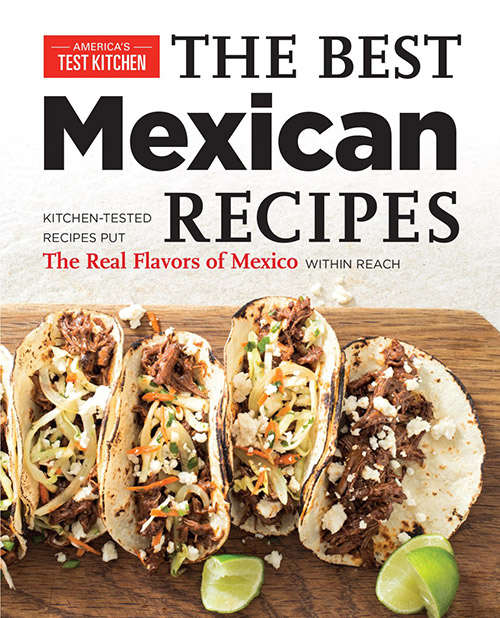A review of The Best Mexican Recipes, plus a recipe for Smothered Chicken Burritos