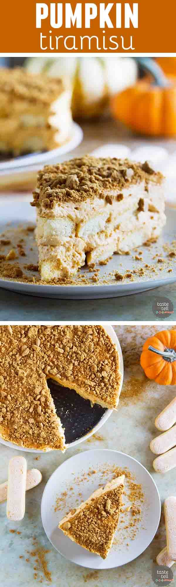 So easy and family friendly, this Pumpkin Tiramisu is a fun way to change up your holiday baking. With pumpkin, apple and gingersnap flavors, you can't go wrong!