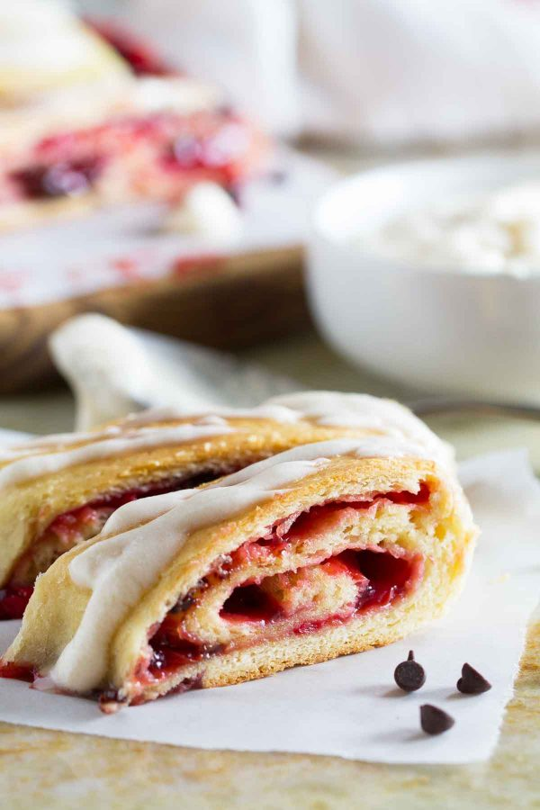 Perfect for a special breakfast or treat, this Chocolate Cherry Roll has a rich, soft dough that is filled with cherries and chocolate chips. Serve up slices as part of a brunch spread or just for a sweet treat.