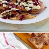 The holiday season isn't just about cookies and pies - these Cranberry Eggnog Dessert Nachos are a fun way to have some favorite holiday flavors in a unique and fun dessert.