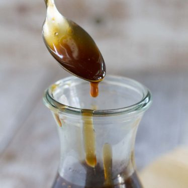 An easy homemade teriyaki sauce recipe made from pantry staples. This sauce is bold and thick and is great as a marinade or as a sauce served with your favorite meats.