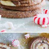"With spirals of chocolate and peppermint dough, these ""Kiss Me"" Chocolate Peppermint Pinwheel Cookies are fun and minty and the perfect ending to a date night at home."