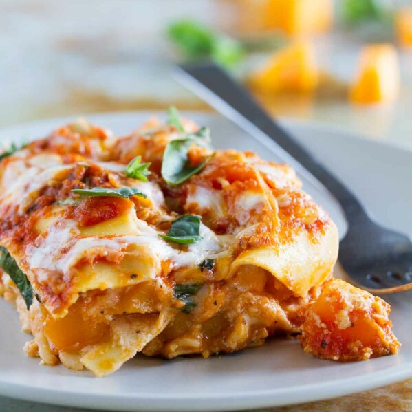 One skillet is all you need for this easy Skillet Butternut Squash Lasagna. Easy enough for a weeknight, and all you need is one pan!