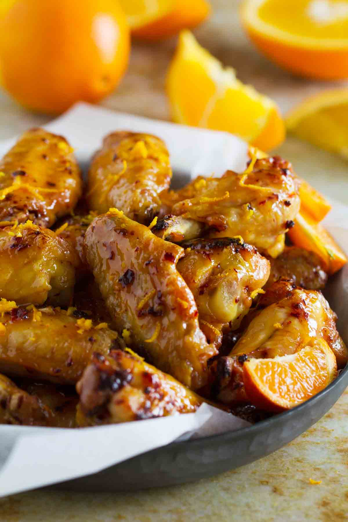 Chipotle Orange Chicken Wings Taste And Tell