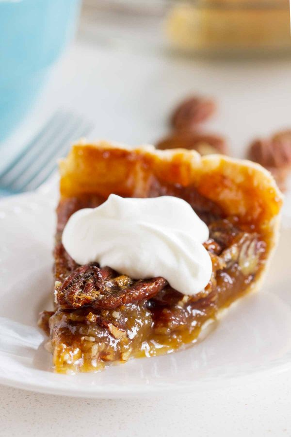 Classic Pecan Pie with Whipped Cream