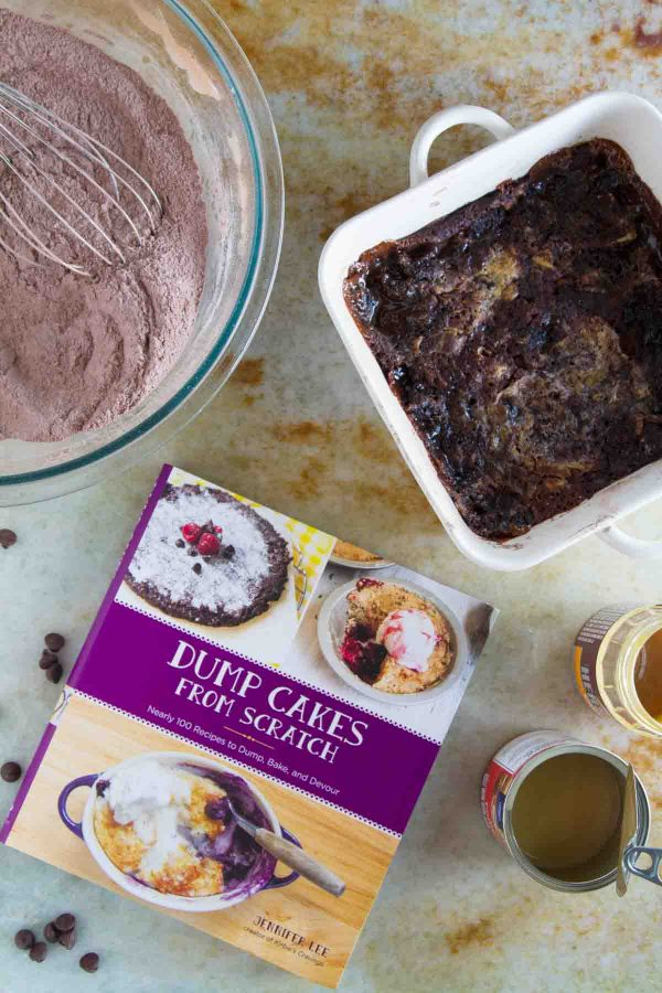 A review of Dump Cakes From Scratch plus a recipe for Gooey Caramel Chocolate Dump Cake.