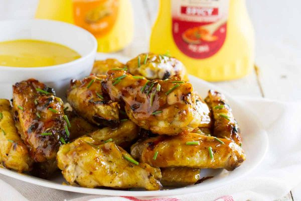 A little bit sweet, a little bit spicy – these Maple Mustard Grilled Chicken Wings will be the star of your backyard bbq!