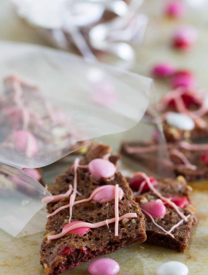 Valentine's Brownie Bark