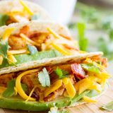 It's better with bacon - especially when it's taco night! These Chicken Bacon Avocado Tacos are perfect for Taco Tuesday!