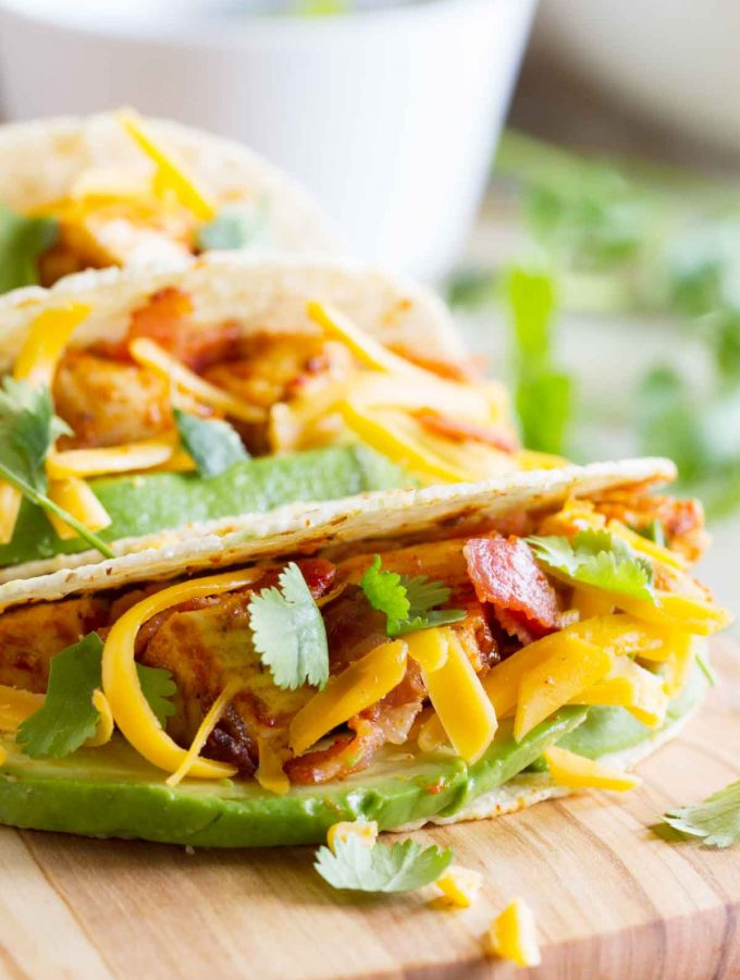 Chicken Bacon Avocado Tacos