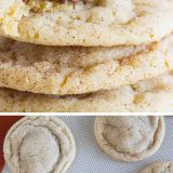 Peanut butter cookies get an upgrade with a chocolate center and a cinnamon sugar coating in these Peanut Butter Cinnamon Meltaway Cookies.
