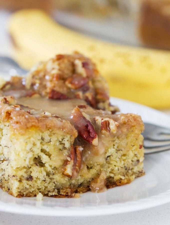 Banana Coffee Cake with Honey Glaze