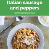 Recipe for Orzo with Italian Sausage and Peppers