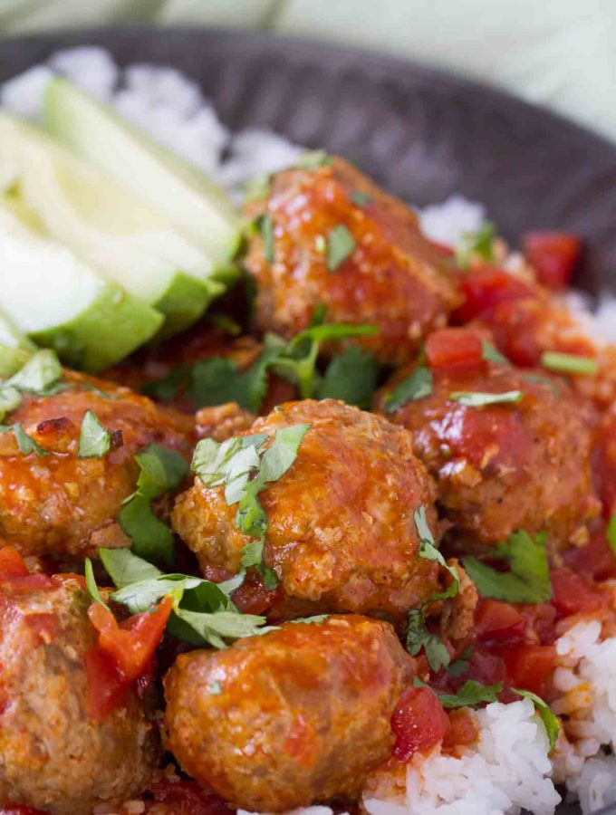 Tex-Mex Slow Cooker Meatballs