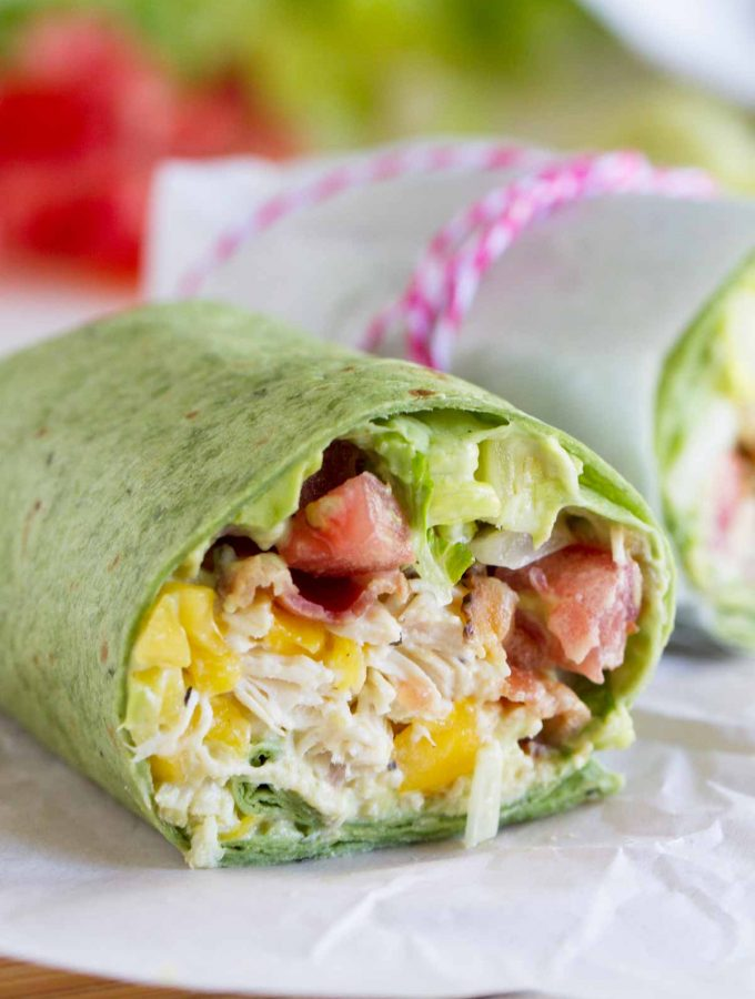California Club Chicken Wrap