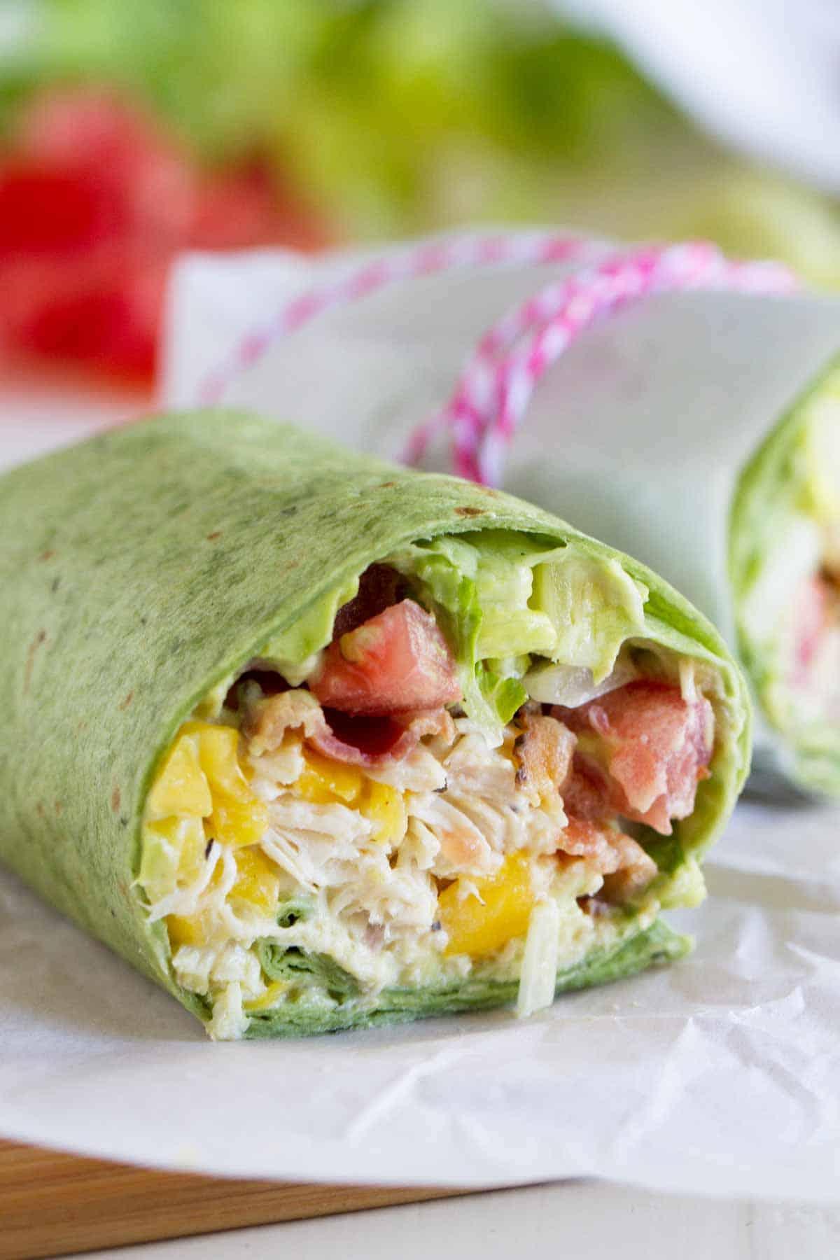 California Club Chicken Wrap Taste And Tell