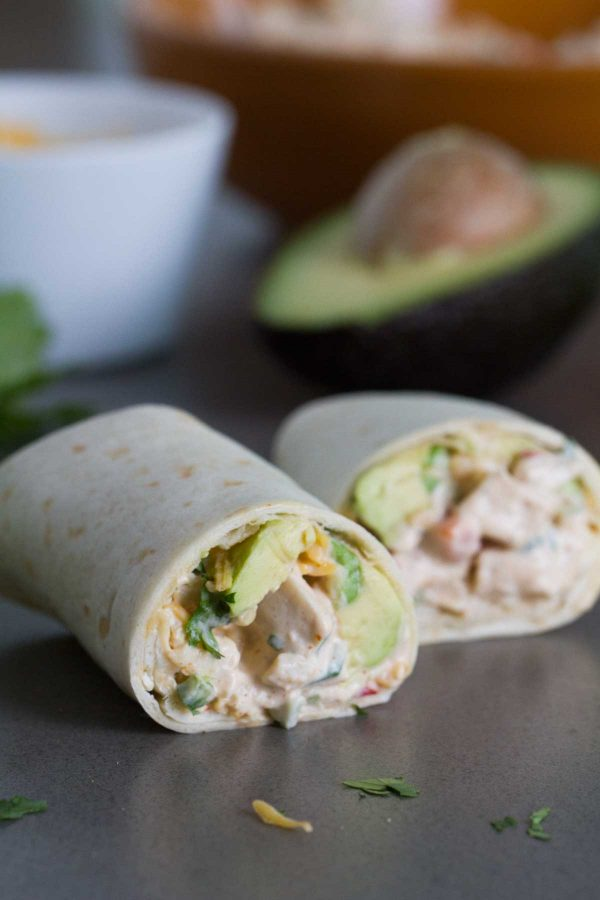Tex-Mex Chicken Salad Wraps - so easy and delicious!