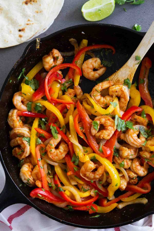 Shrimp Fajitas with Bell Peppers