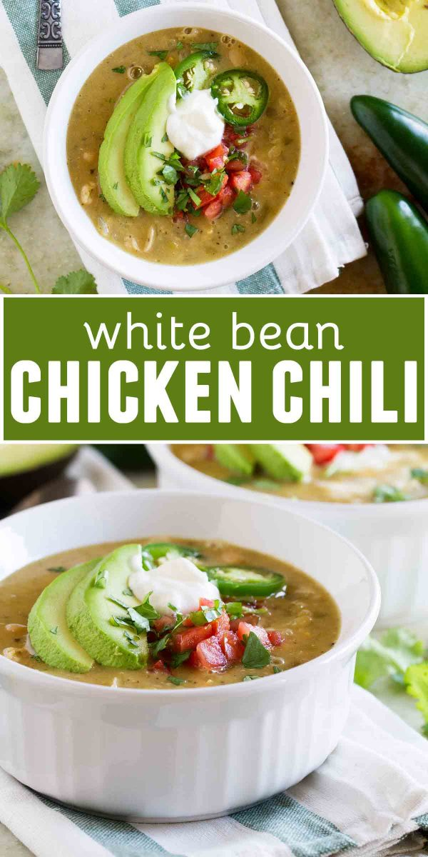 White Bean and Chicken Chili collage