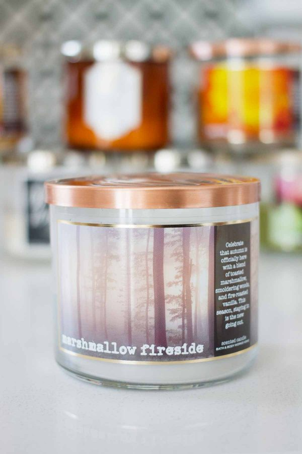 Dishing on my favorite fall candles from Bath and Body Works 2017 - Marshmallow Fireside