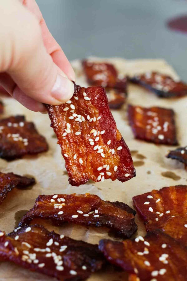 A little bit sweet and a little bit spicy, these Brown Sugar Sriracha Bacon Bites are the easiest appetizer recipe. Plus, they'll disappear fast because they are so popular!