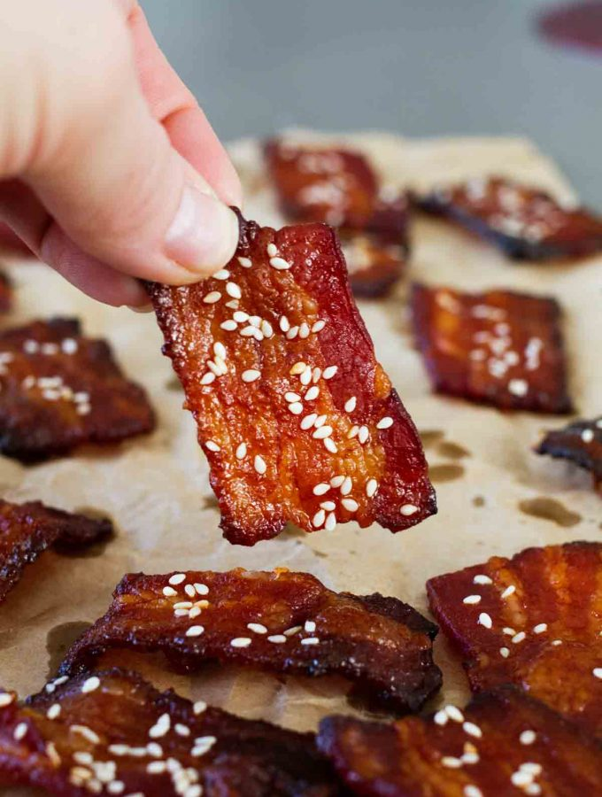 Brown Sugar Sriracha Bacon Bites