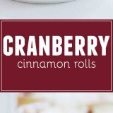 Light and fluffy and perfect for the holiday season, these Cranberry Cinnamon Rolls are filled with a cranberry filling and topped with a delicious and unique frosting.