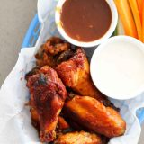 Crockpot Chicken Wings with barbecue sauce