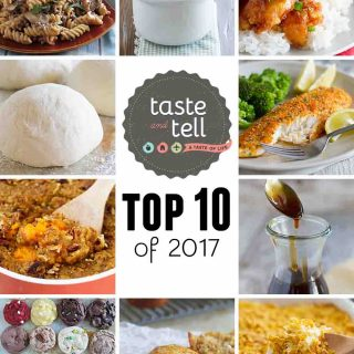 The top 10 recipes on Taste and Tell in 2017