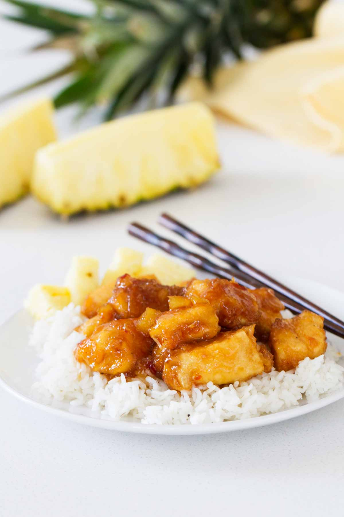Is the chicken combined with pineapple Combine the tasty with the useful