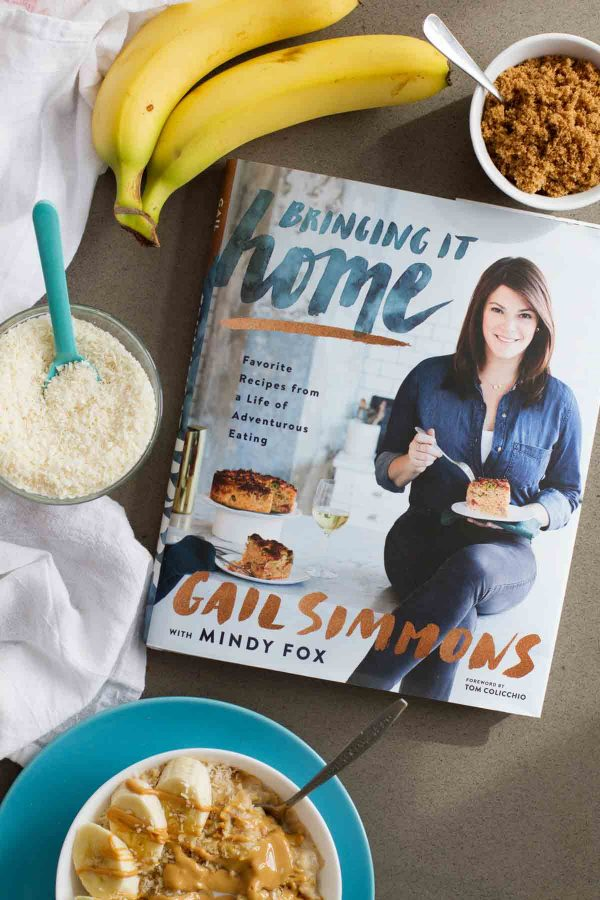 review of Bringing It Home by Gail Simmons, plus a recipe for Peanut Butter, Coconut and Banana Oatmeal