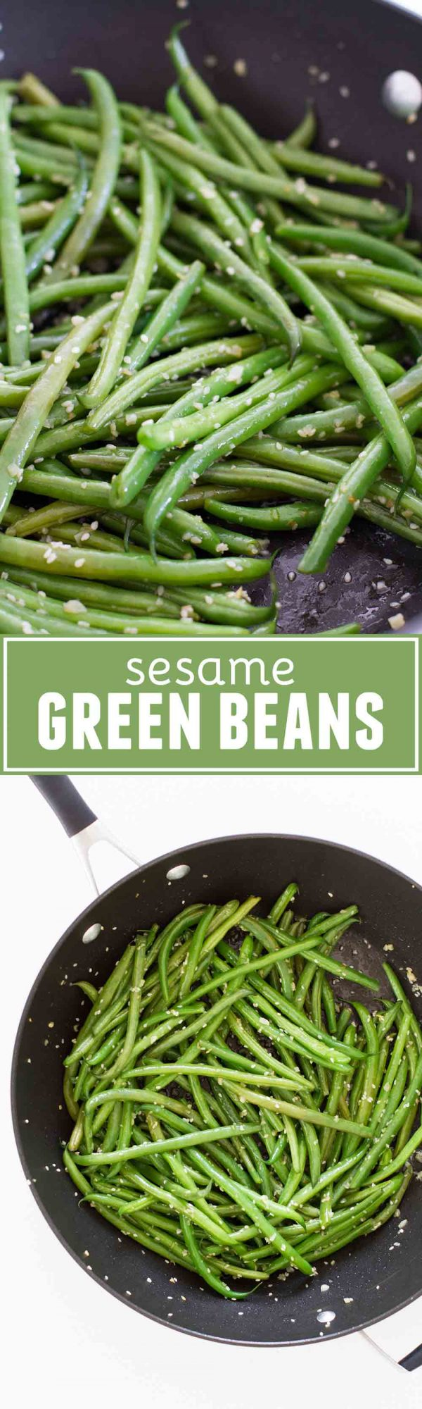 These Sesame Green Beans may seem simple, but they totally pack a punch of flavor! You are only a few ingredients away from a delicious, healthy side dish.