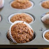 Whole Wheat Bran Muffins Close up