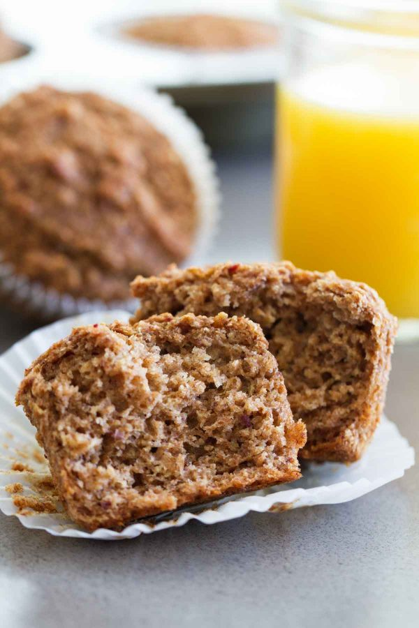 Inside of Whole Wheat Bran Muffins