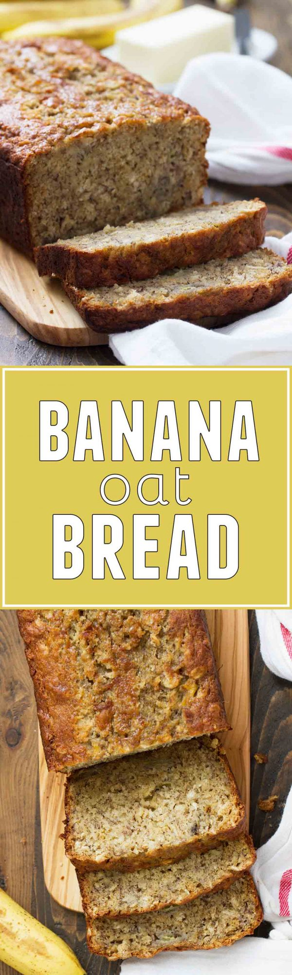 Heartier than normal banana bread, this Banana Oat Bread makes the perfect breakfast bread! Just sweet enough with great texture, this bread is the best way to start the day.
