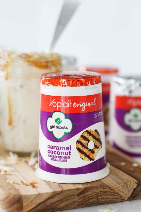 Yoplait Caramel Coconut Yogurt - one of the main ingredients for Caramel Coconut Overnight Oatmeal