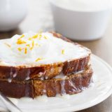 Sunrise Sweet French Toast - a sweet french toast topped with sweetened condensed milk and whipped cream