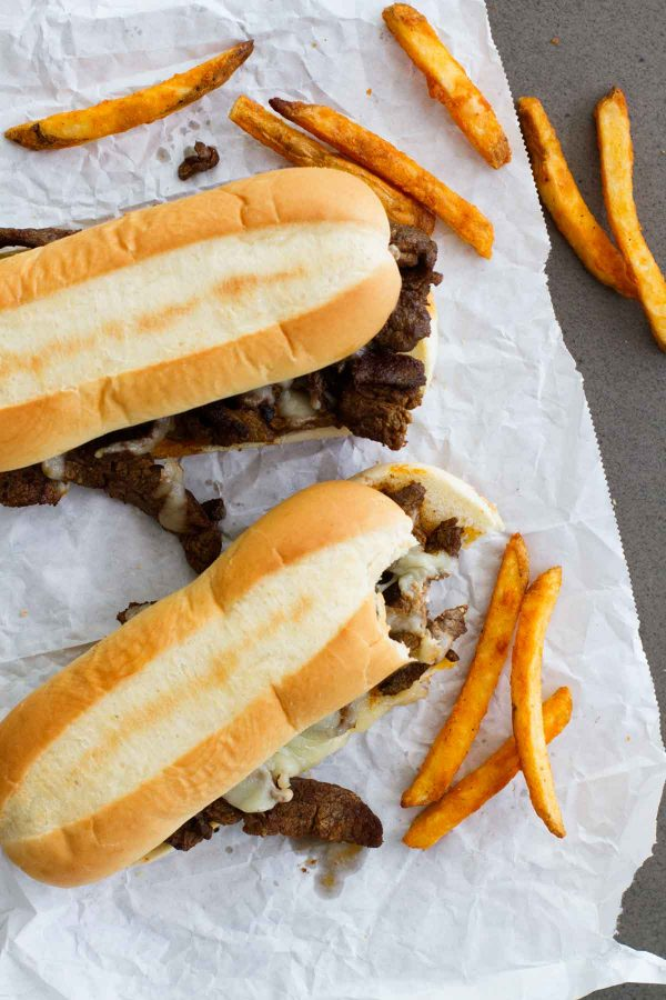 Easy lunch idea - Spicy Cajun Cheesesteak Sandwiches